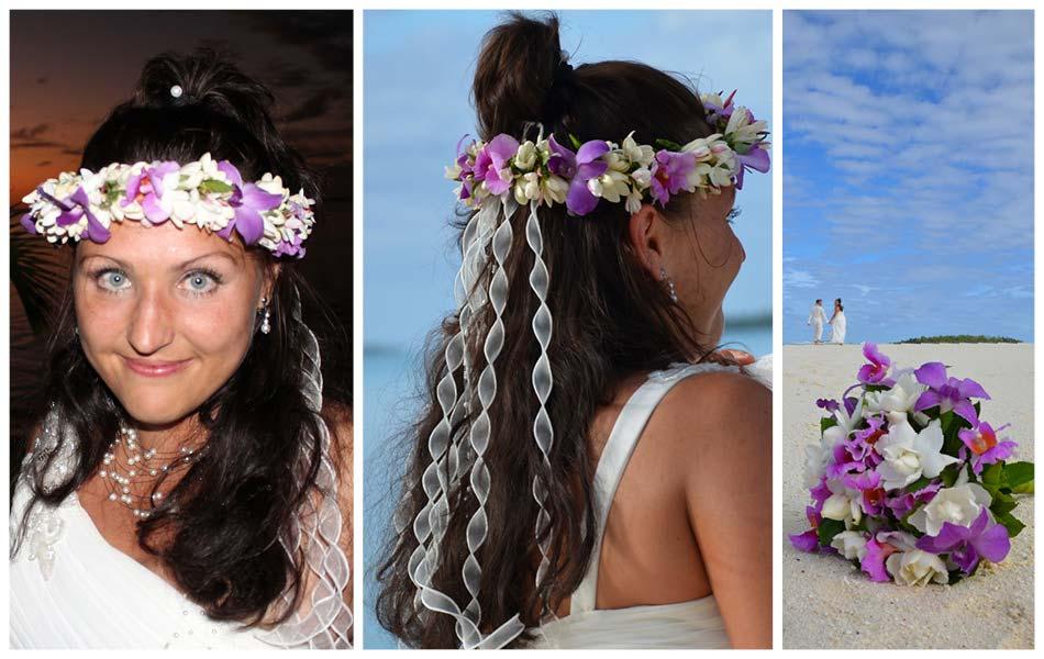 Stylingvorschlag für eine entspannte Hochzeit am Strand in der Südsee
